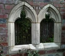Garden folly Gothic arch Chapel double window